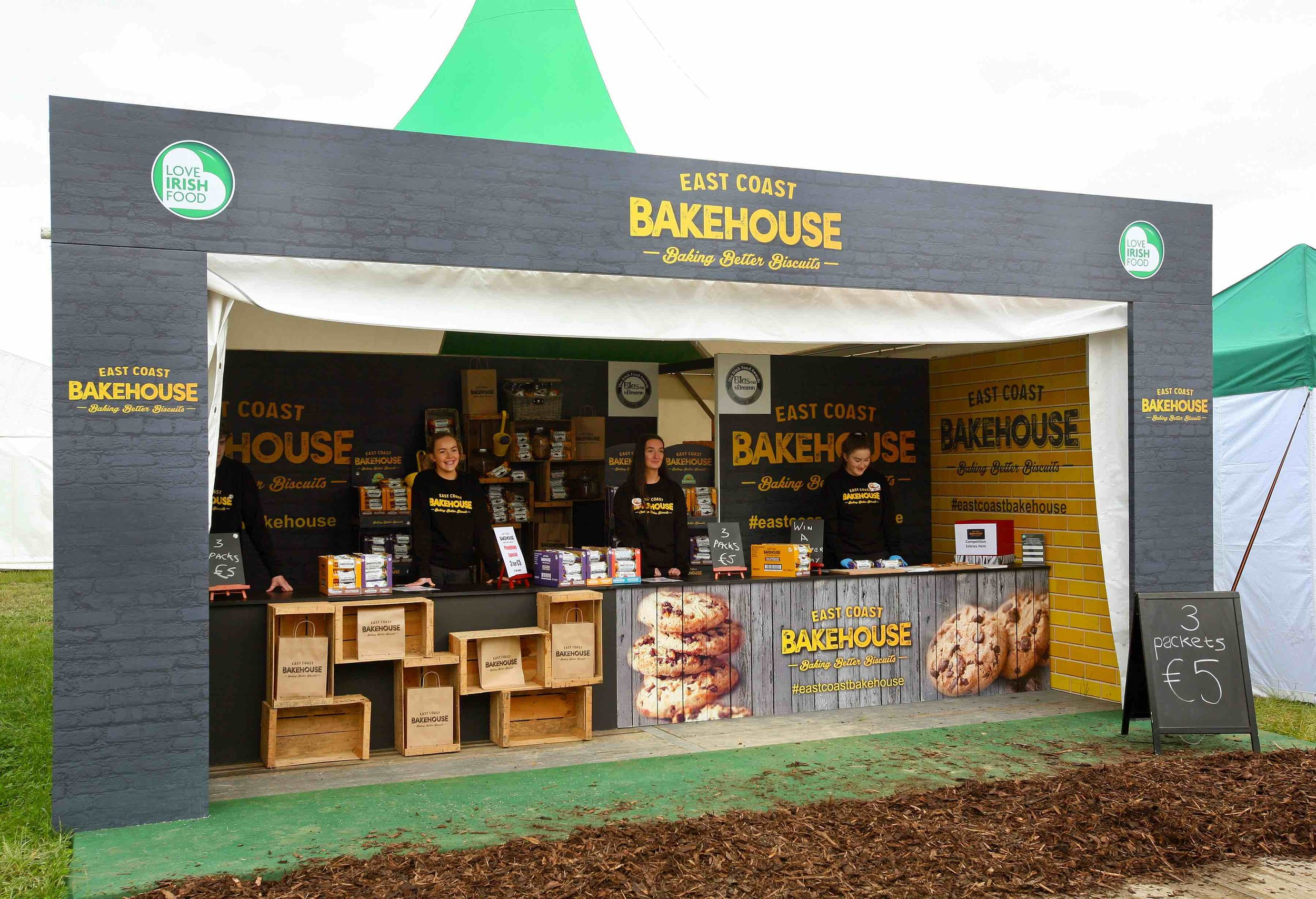 Eastcoast Bakehouse Exhibition Stand at The National Ploughing Championships 2017