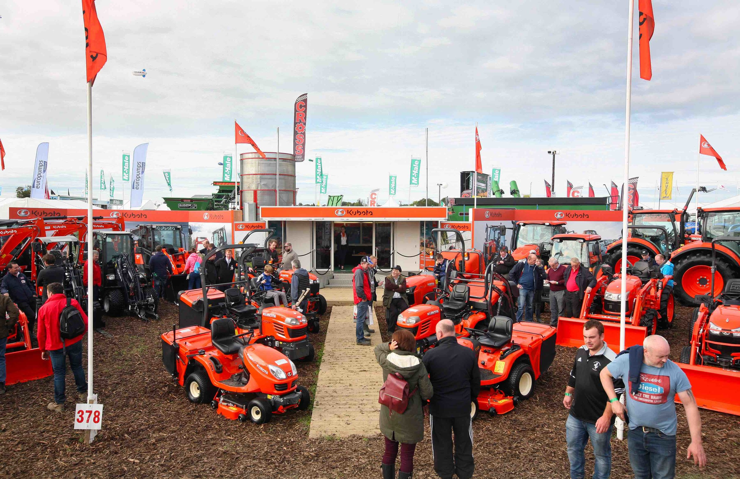 Kubota Exhibition Stand at The National Ploughing Championships 2017