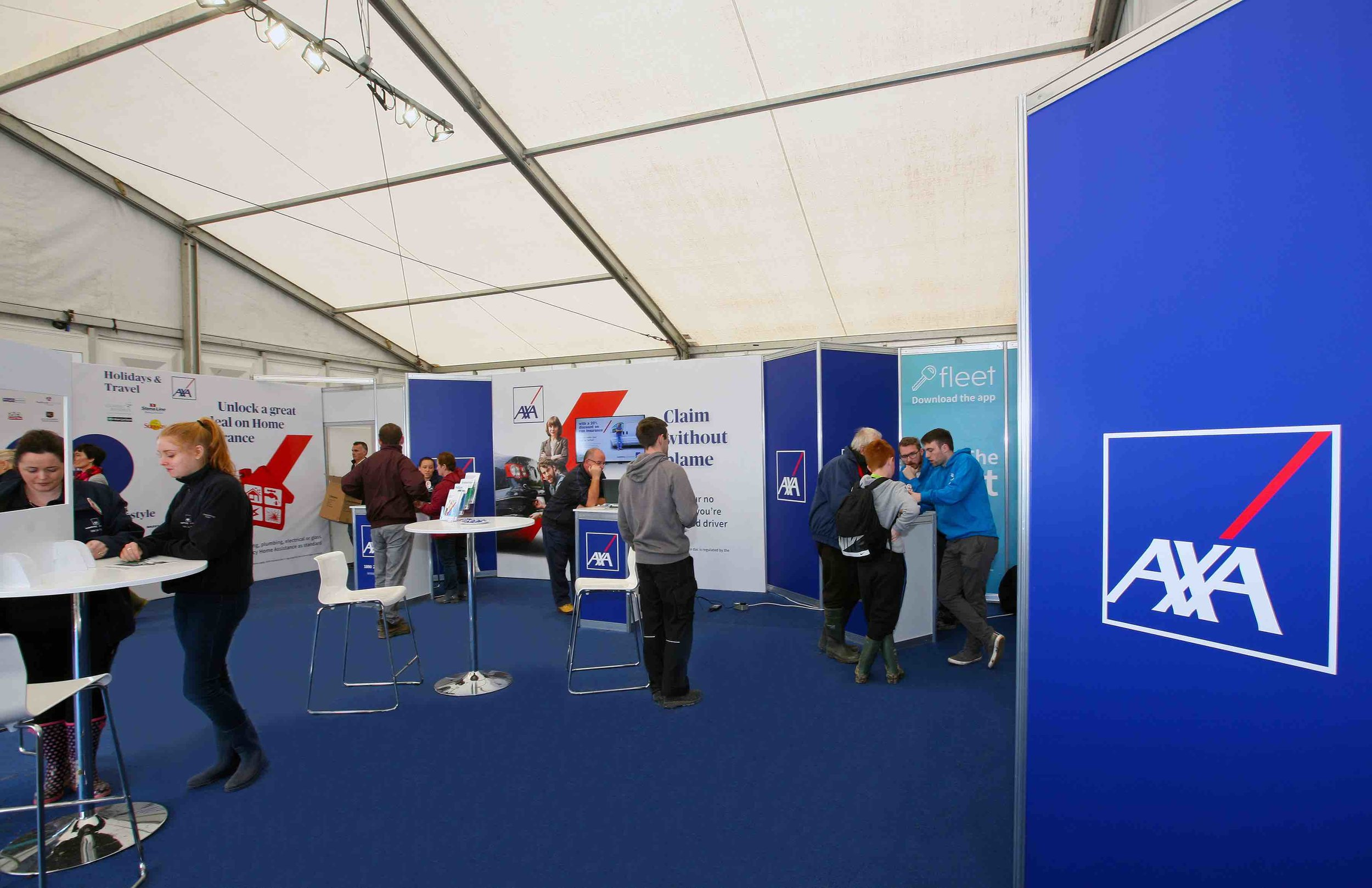 AXA Insurance Exhibition Stand at The National Ploughing Championships 2017