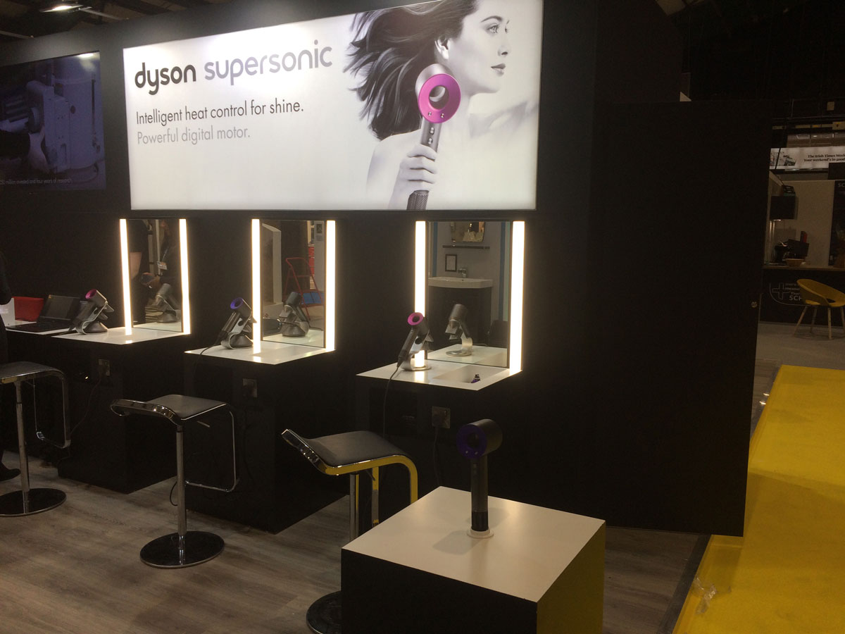 Dyson Exhibition Stand at Ideal Homes Show