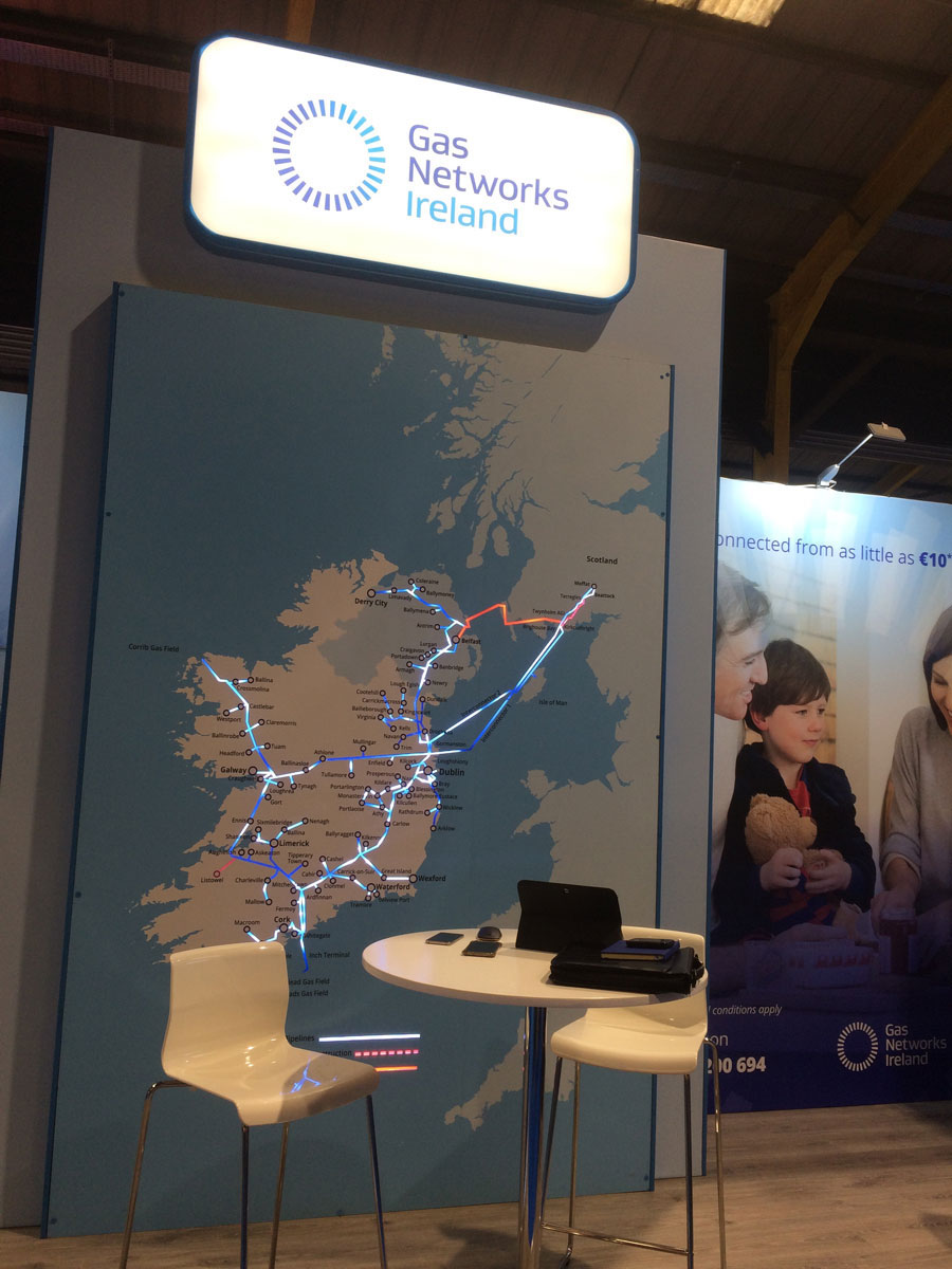 Gas Networks Ireland stand at Ideal Homes Show