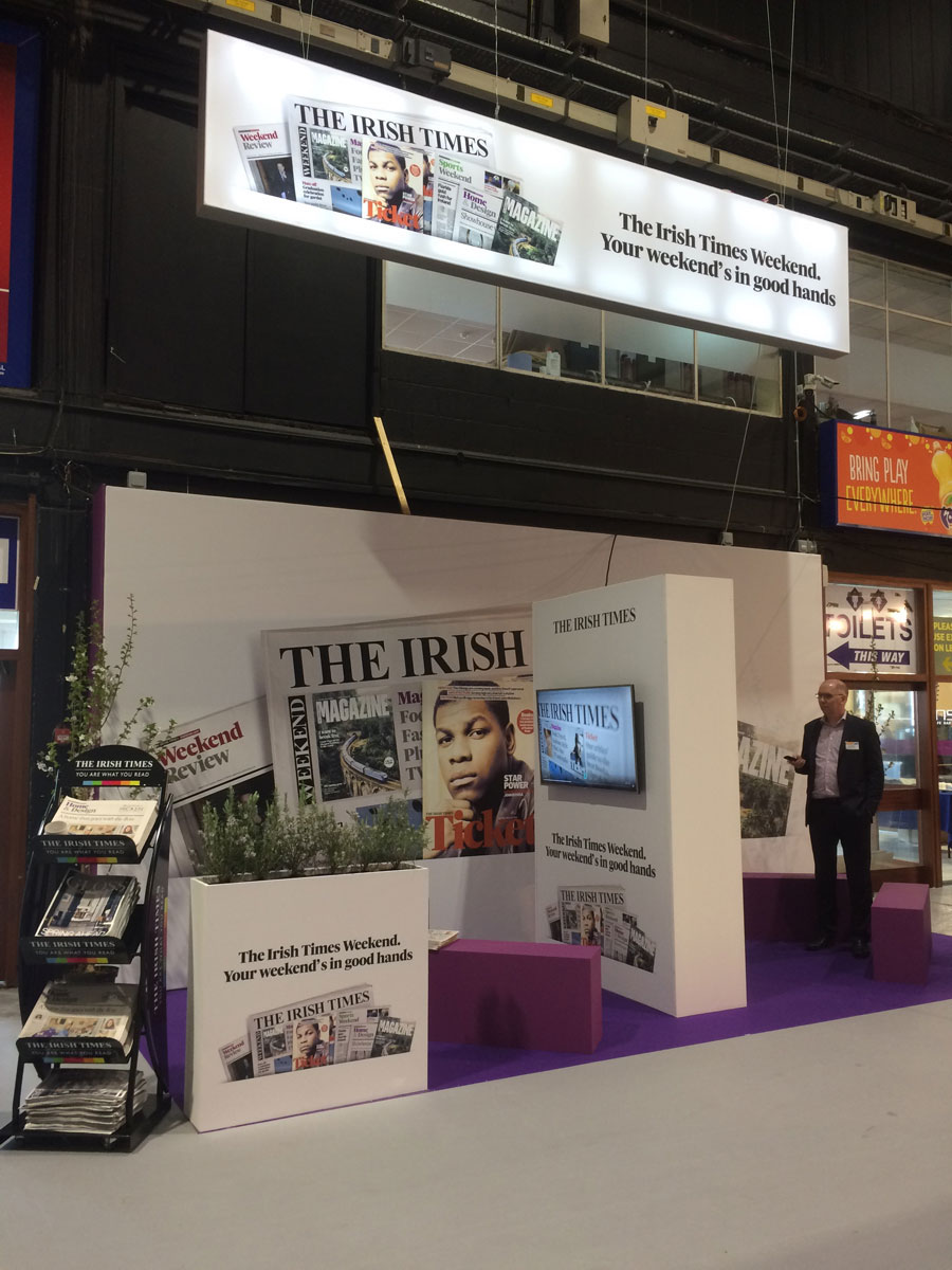 The Irish Times stand at Ideal Homes Show