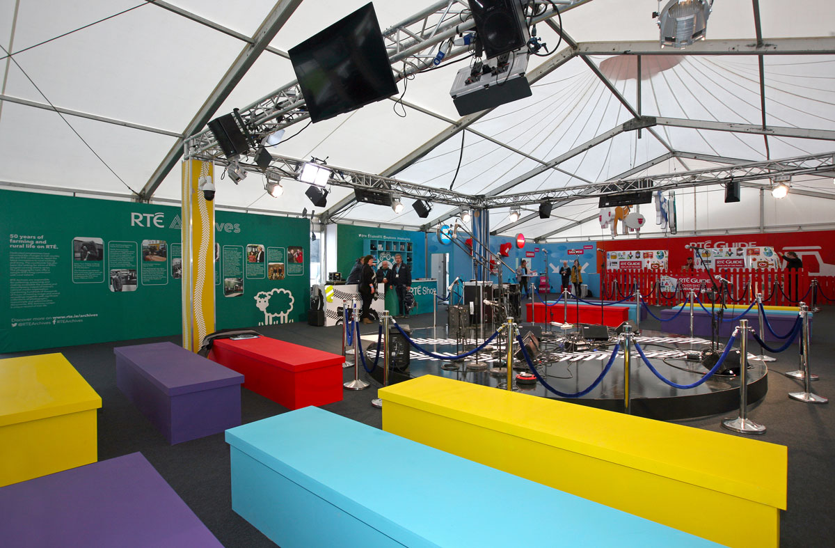 RTÉ unit at the national ploughing championships 2018