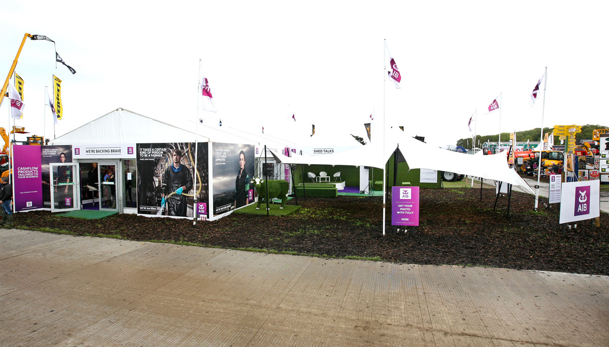 AIB unit at the national ploughing championships 2018