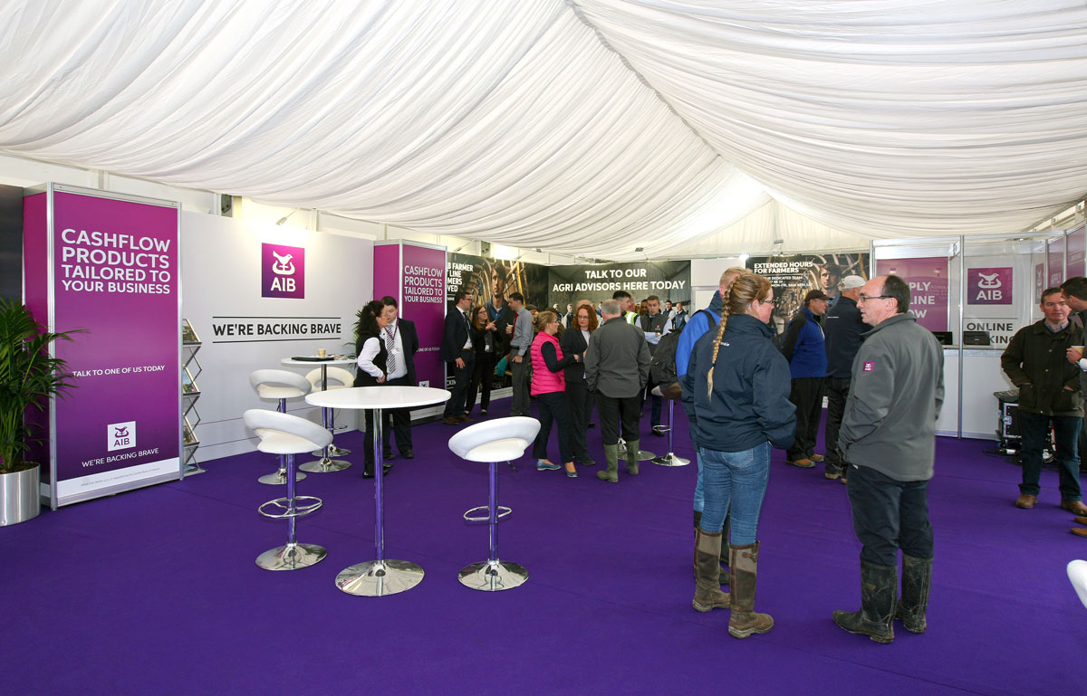 AIB unit interiors at the national ploughing championships 2018