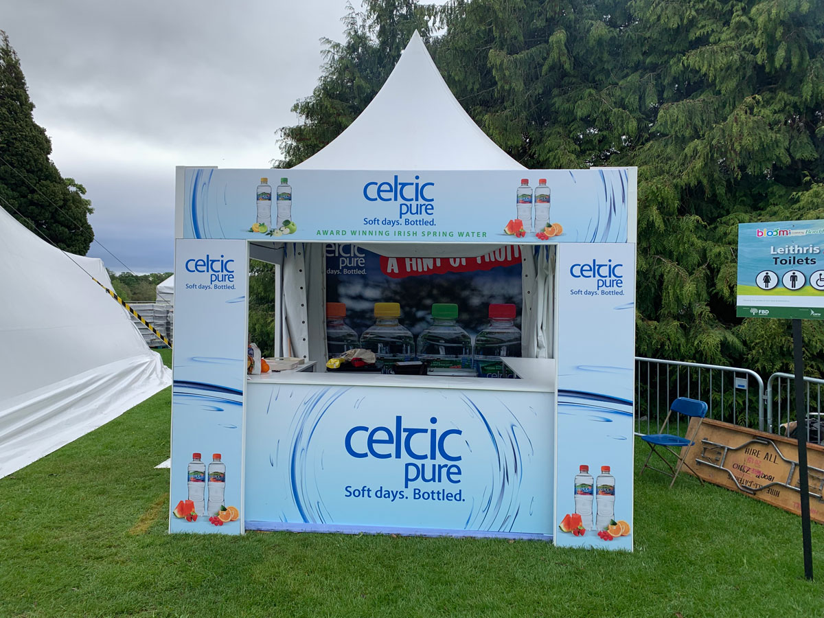Celtic Pure stand at Bloom in the Park