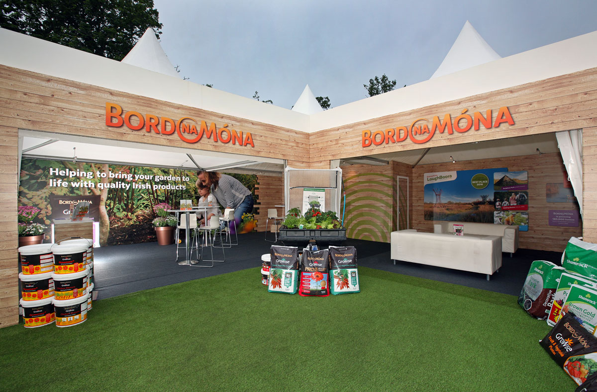 Bord na Mona stand at Bloom in the Park