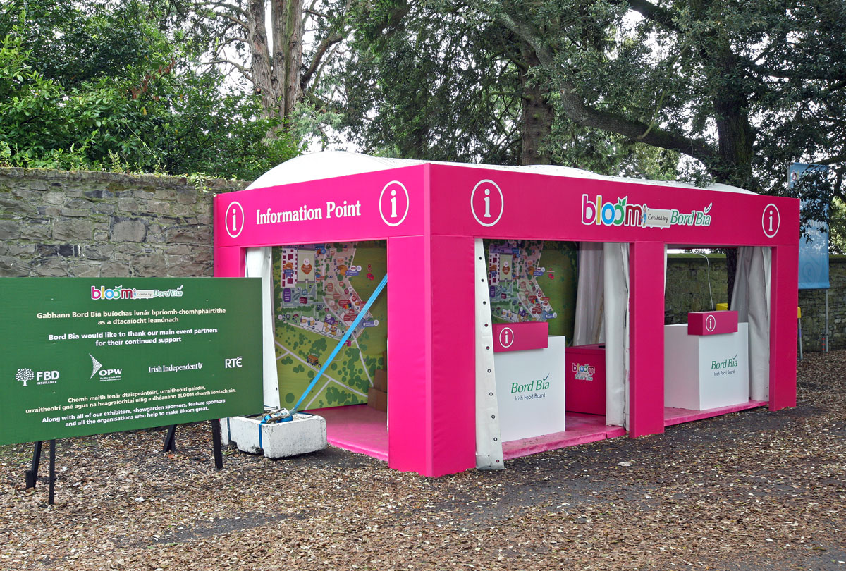 Information stand at Bloom in the Park