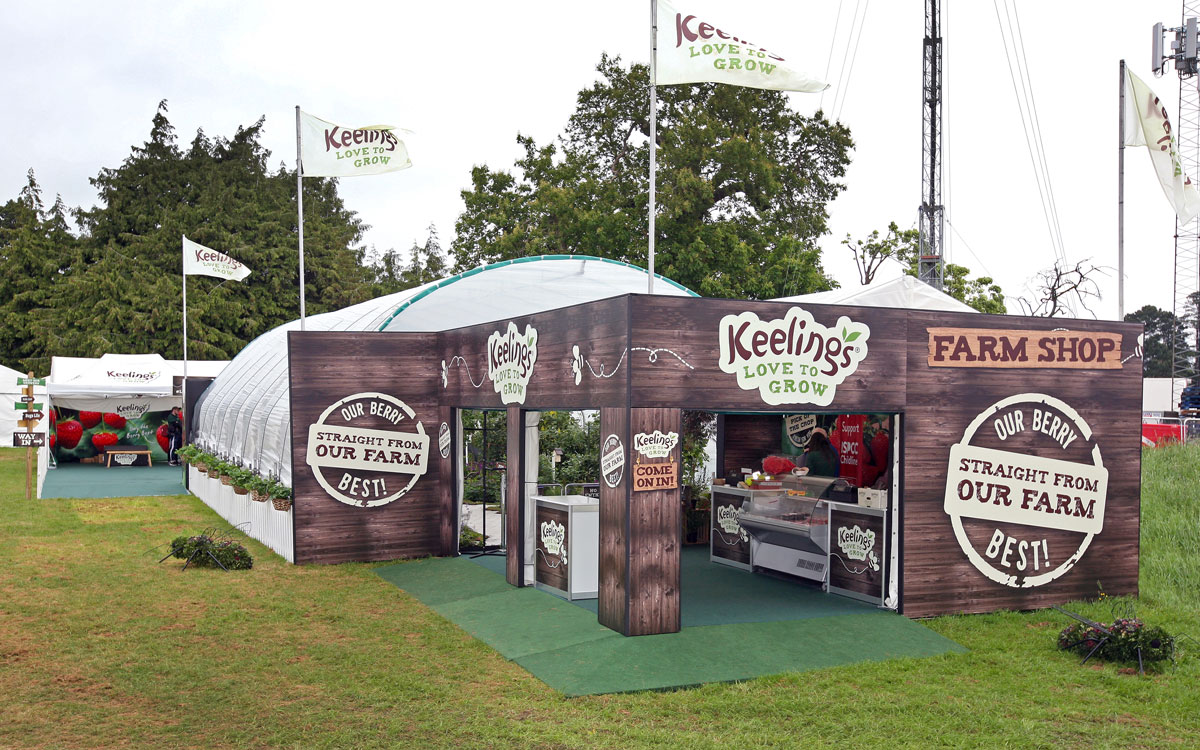 Keelings stand at Bloom in the Park