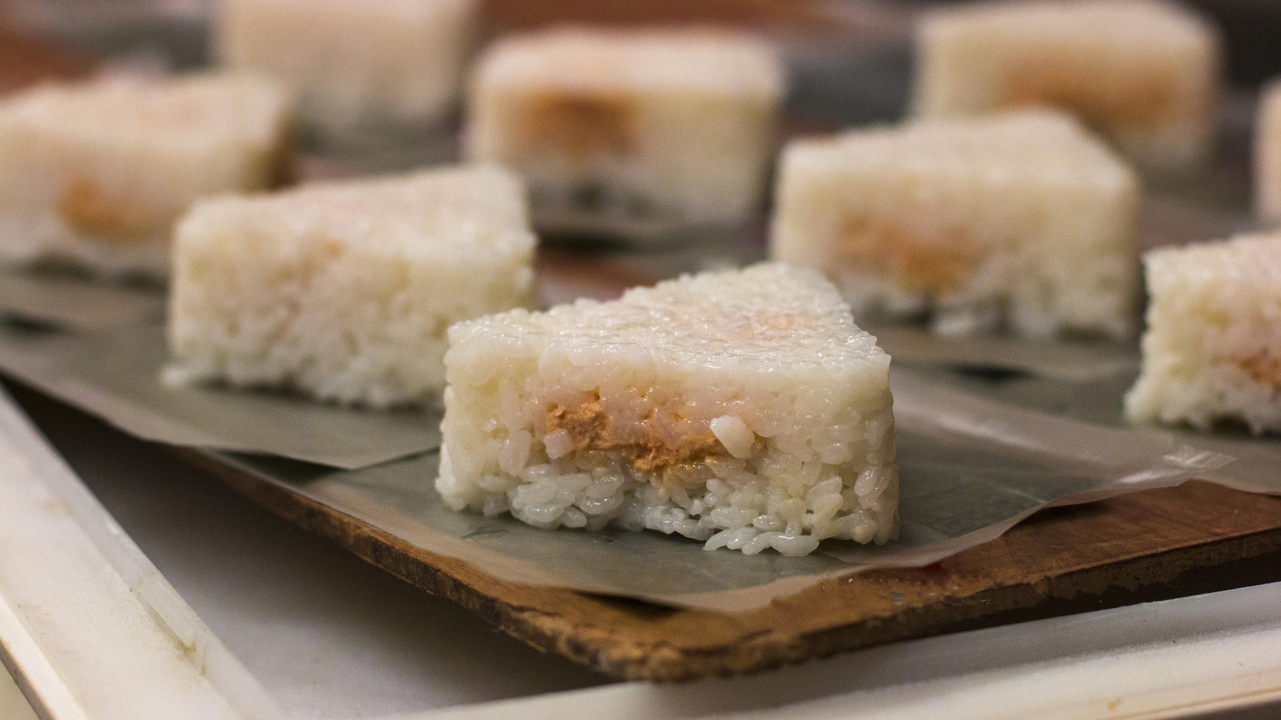 Spicy tuna Onigiri.
