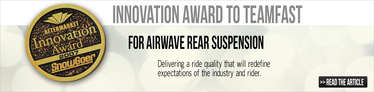 Airwave Rear Suspension Innovation Award Winner