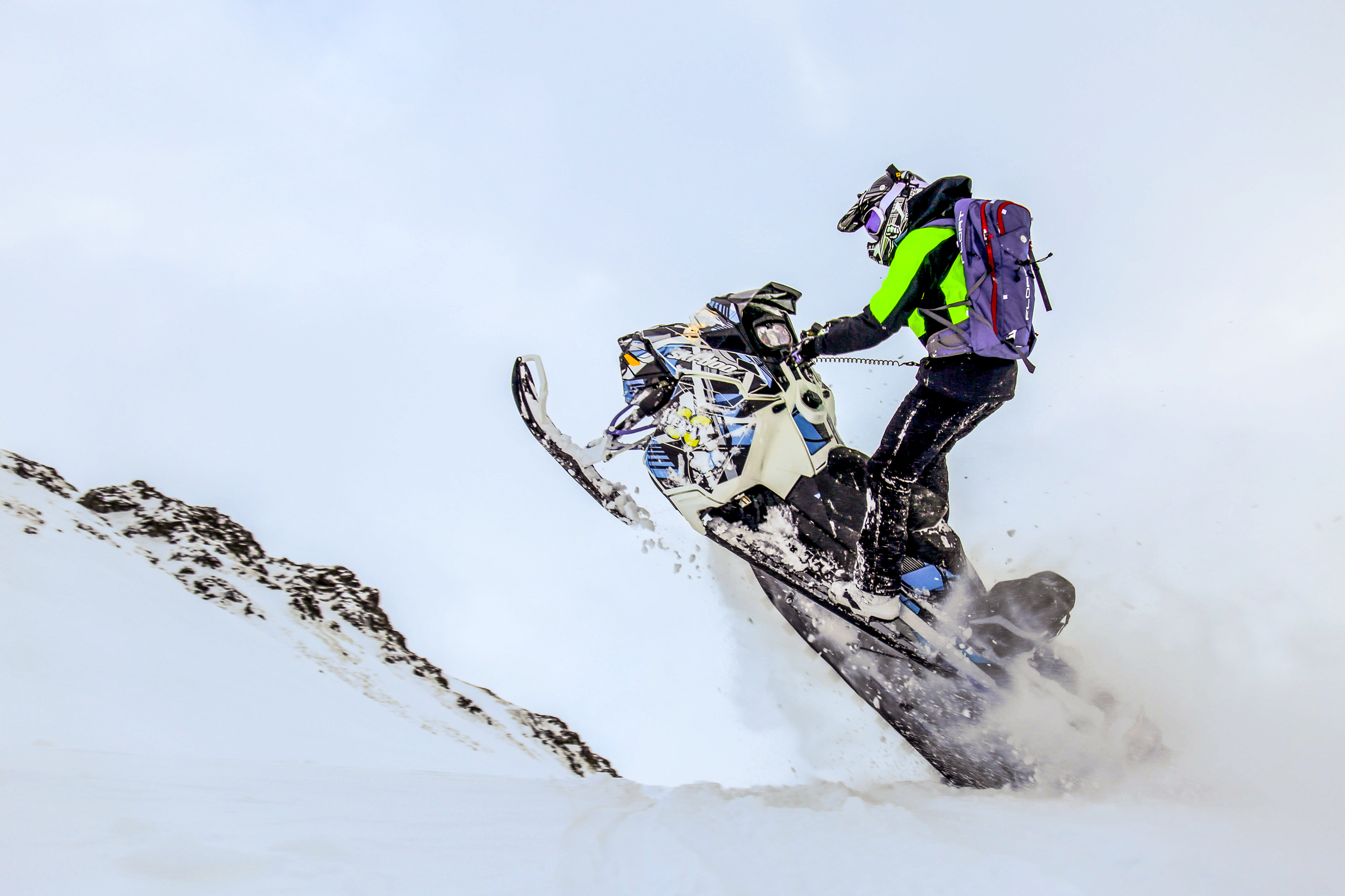 Snowmobile Mountains Suspension