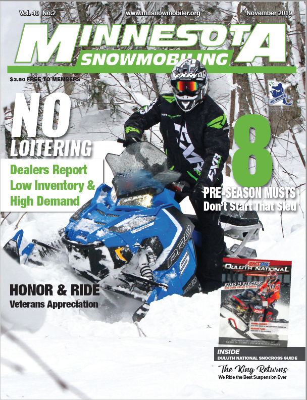 CLICK IMAGE to read recentMinnesota SnomobileArticle -