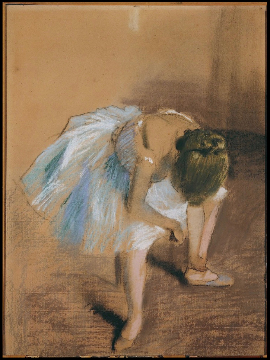 Seated Dancer With Hand on Her Ankle, Edgar Degas