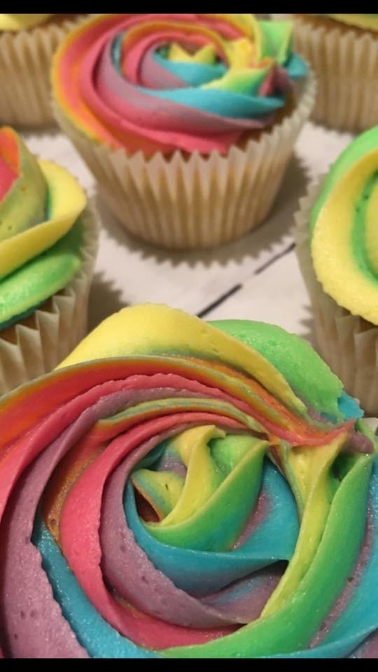 Rainbow LGBT cupcakes