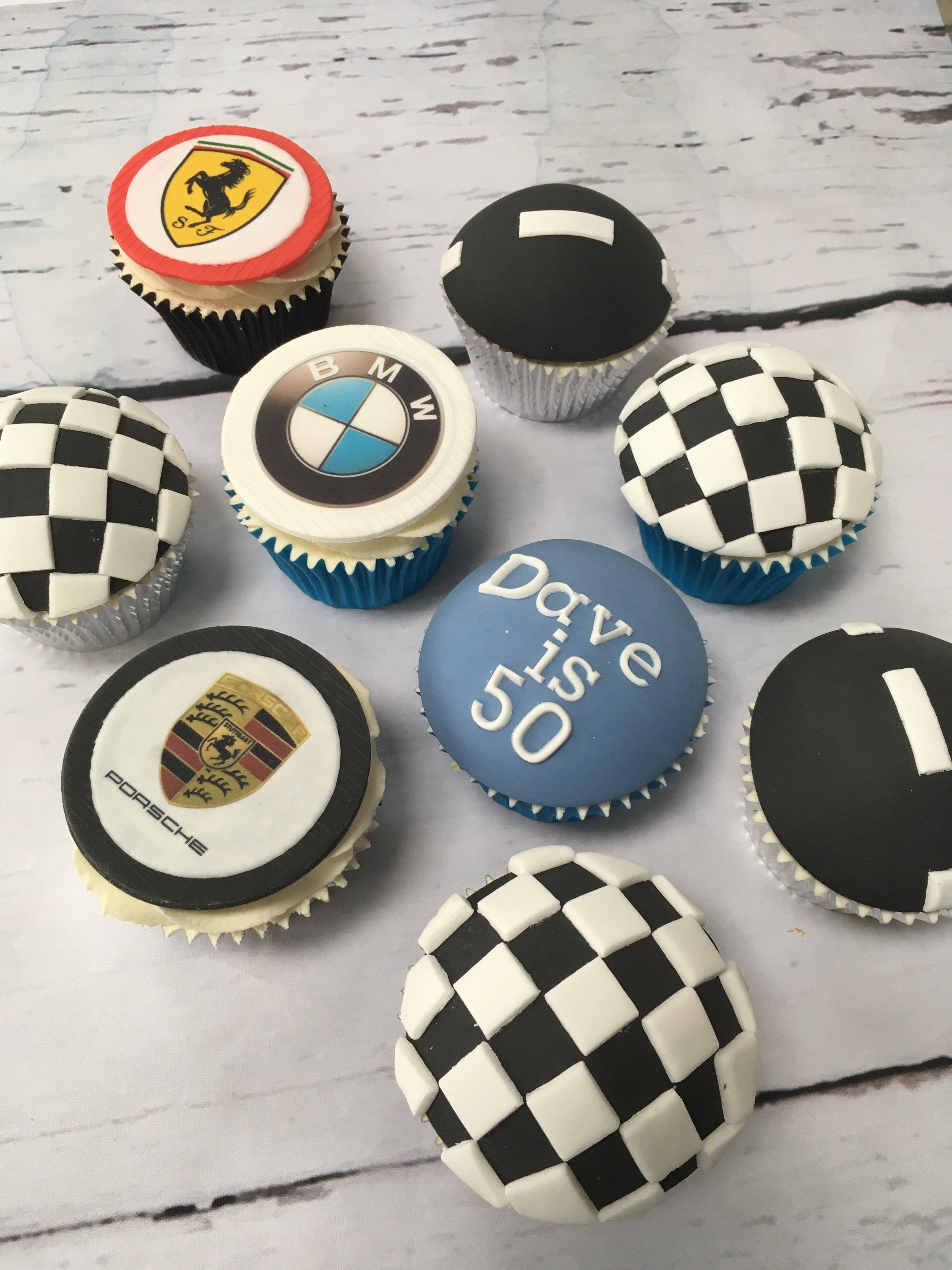 Supercar cupcakes
