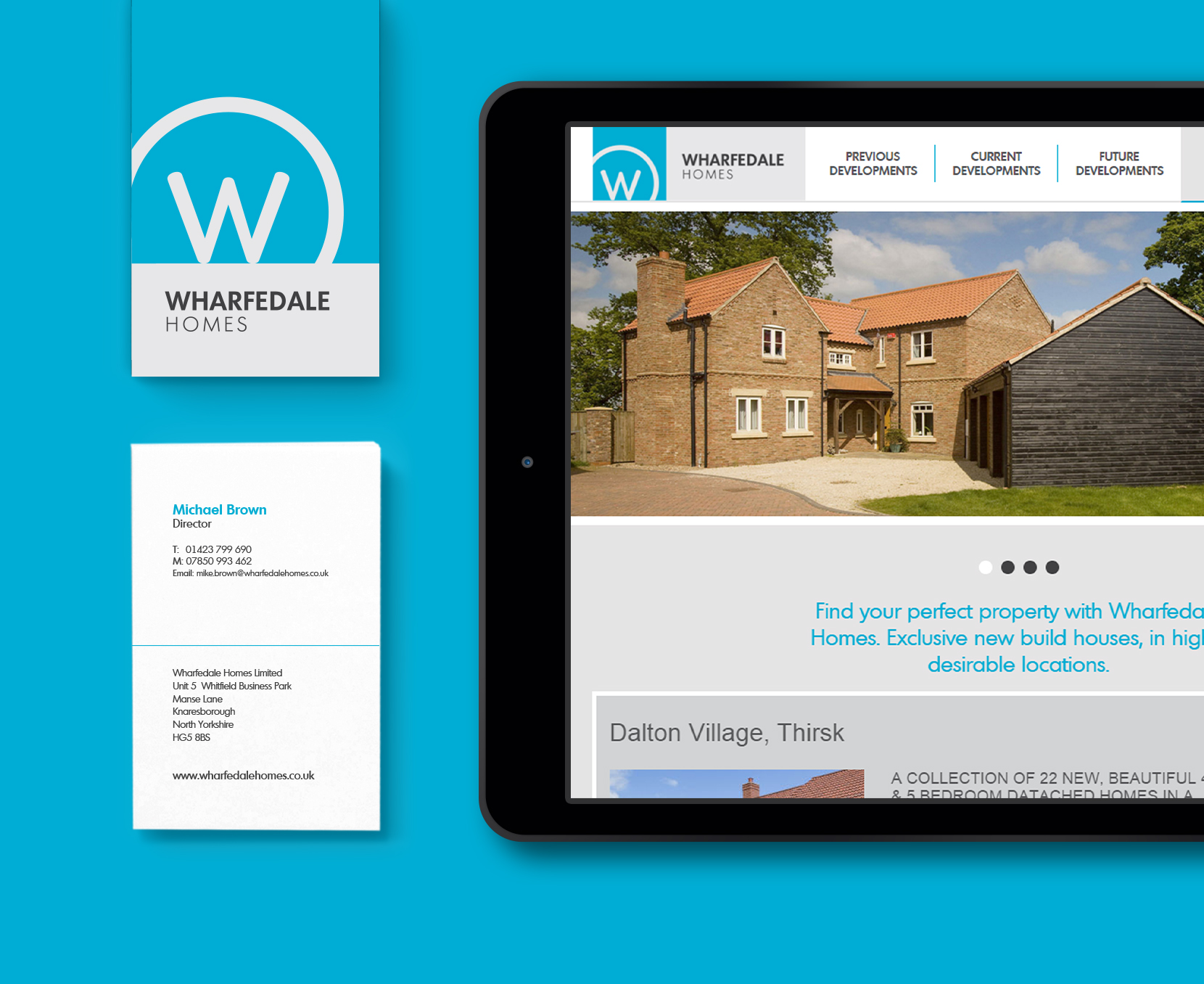 Wharfedale Homes - responsive designs and branding