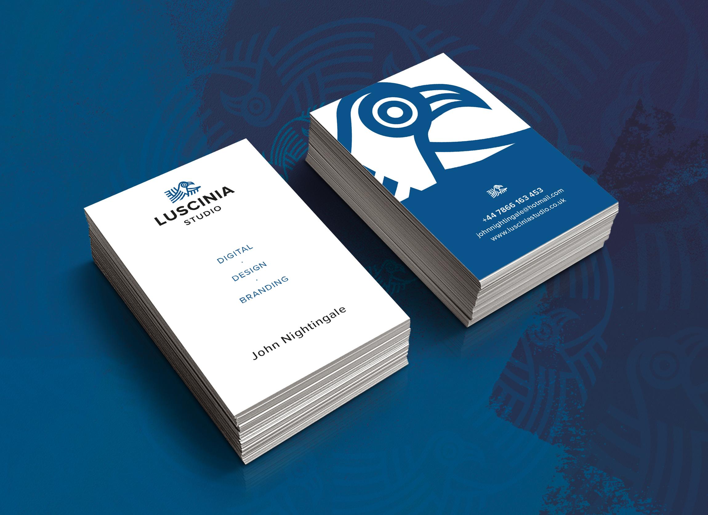 Luscinia business card designs