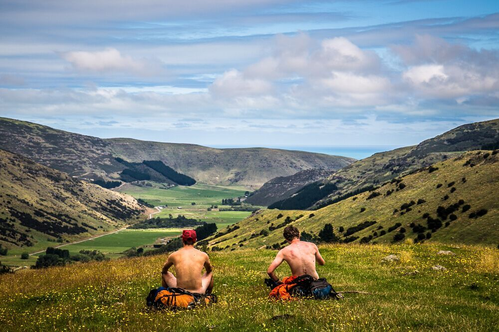 Erik and his childhood best friend hike the Te Araroa trail in New Zealand, sometimes fully embracing nature.