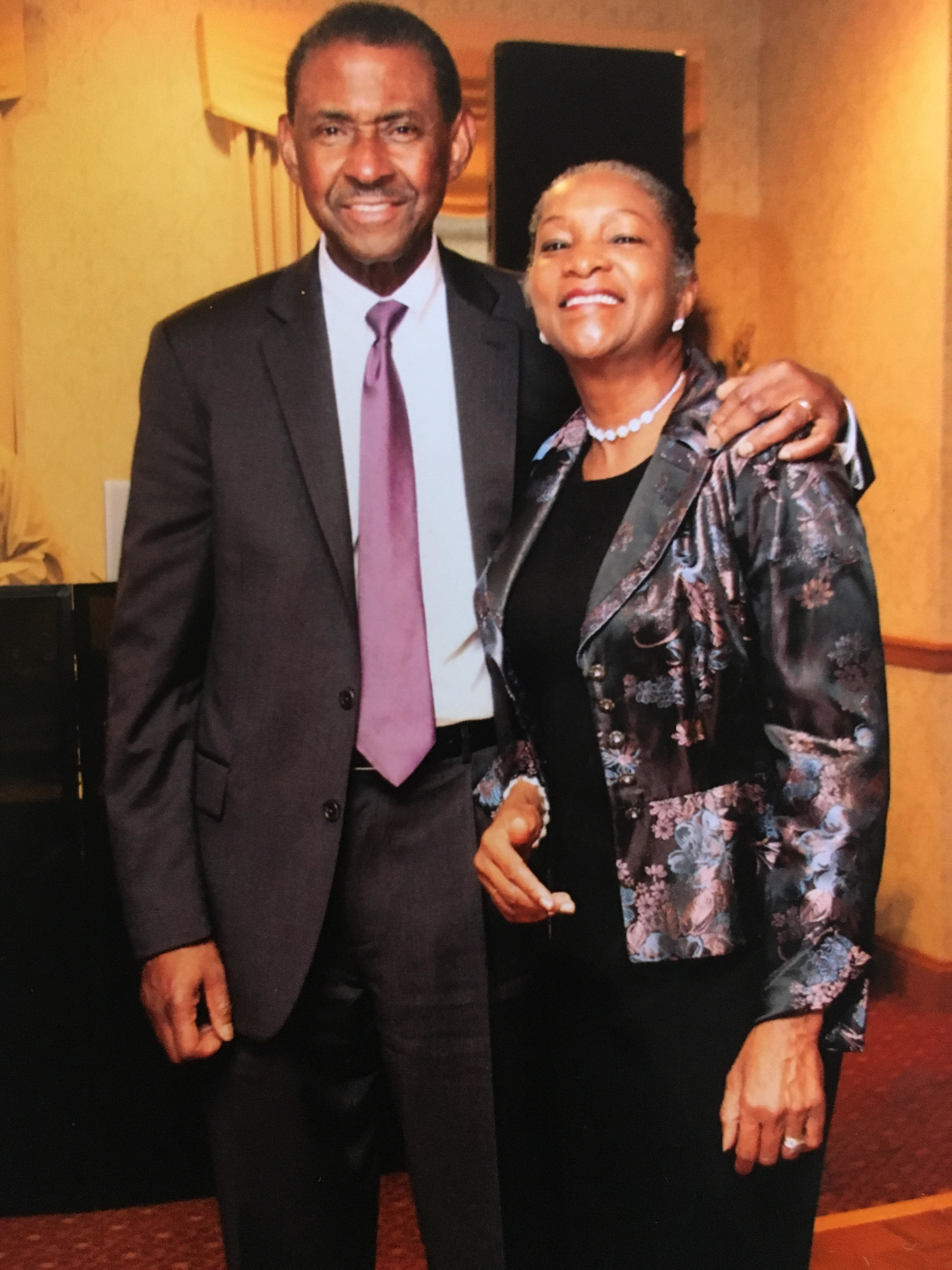 My dad with Dr. Melodie Toby, my mom. They met while both attending Harvard Business School.