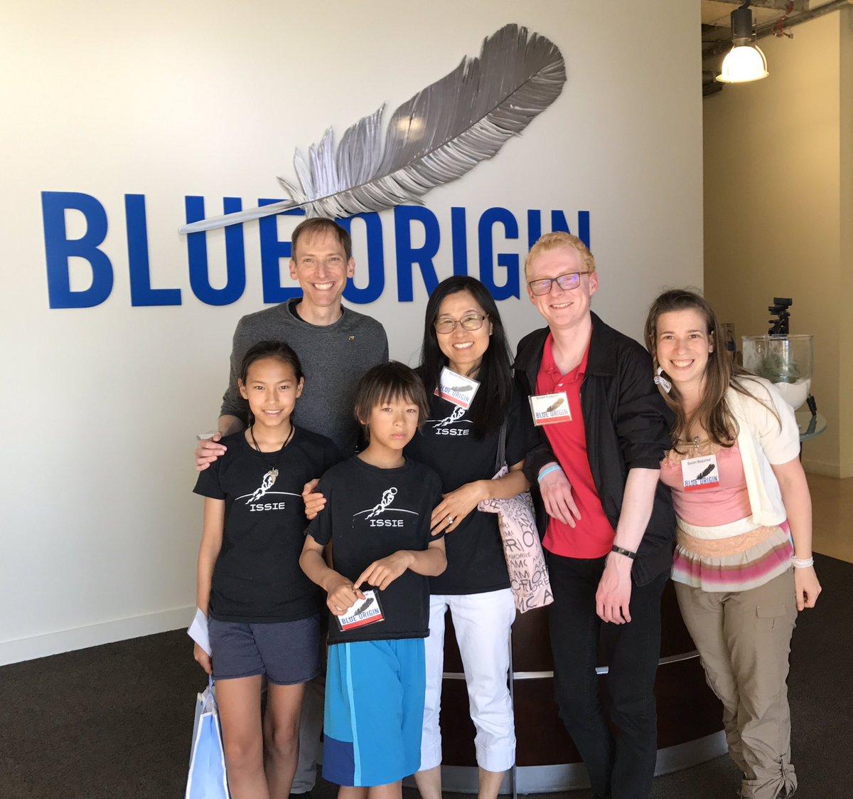 The bi-coastal team behind ISSIE met up to visit Blue Origin in August 2017.