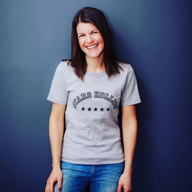She loved the Gilmore Girls so much she got this t-shirt made which you can buy from Amy's site.