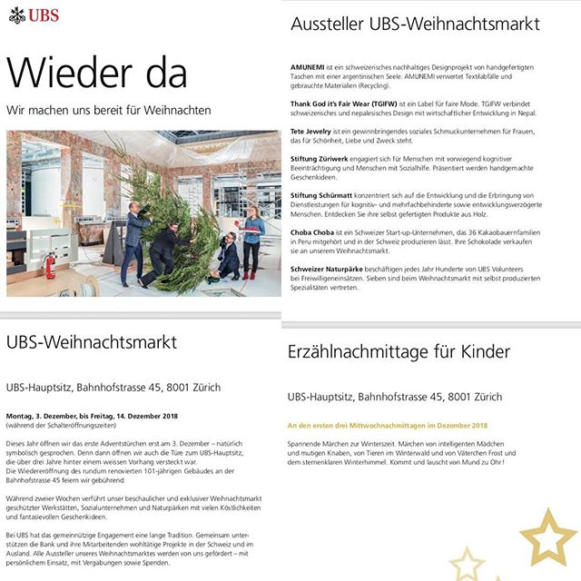 We invite you to join us at the UBS #zürichweihnachtsmarkt from next Monday and see our new bags 🙋🏻♀️🎒✨ #ledertasche #nachhaltigkeit #reciclying #swissmade