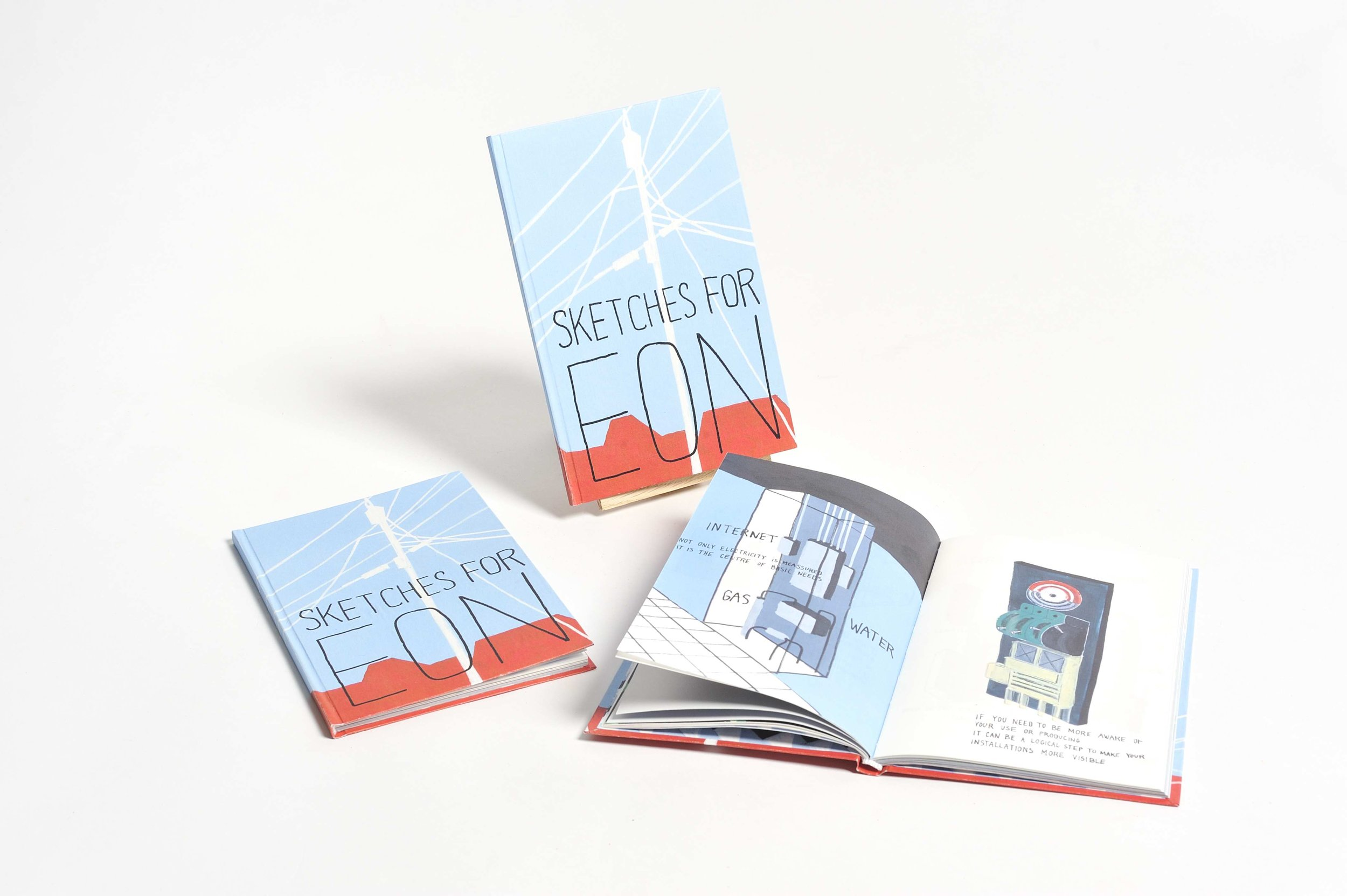 'Sketches for EON', an illustrated publication about changes within the world of energy, 2013