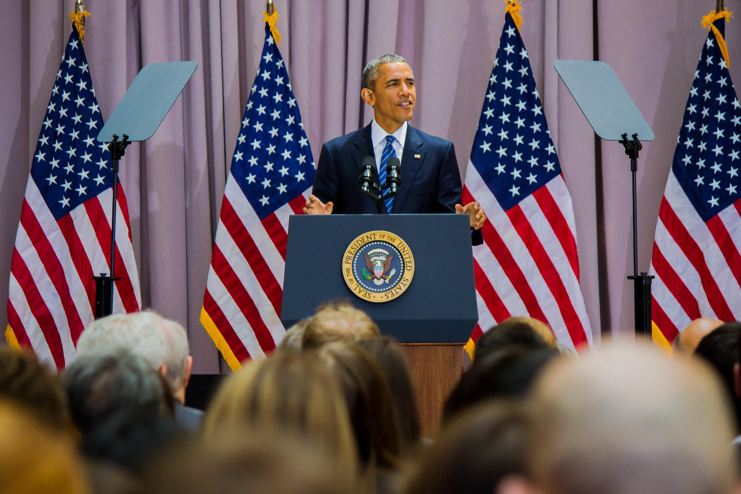 44th   President of the United States  Barack Obama - American University 2015