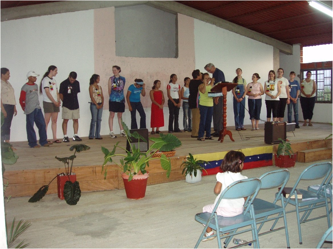 Our mission team helps our partner church in Venezuela.
