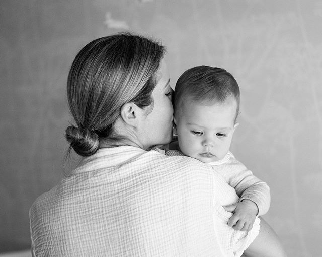 Do not worry if your baby is still asleep when I arrive for our session - I'm able to capture the sweetest, genuine moments when baby wakes up and wants to be close to you.  I just love this image of Audrey with her mama.  Moments like these get me excited for our baby girl #2, due in January
