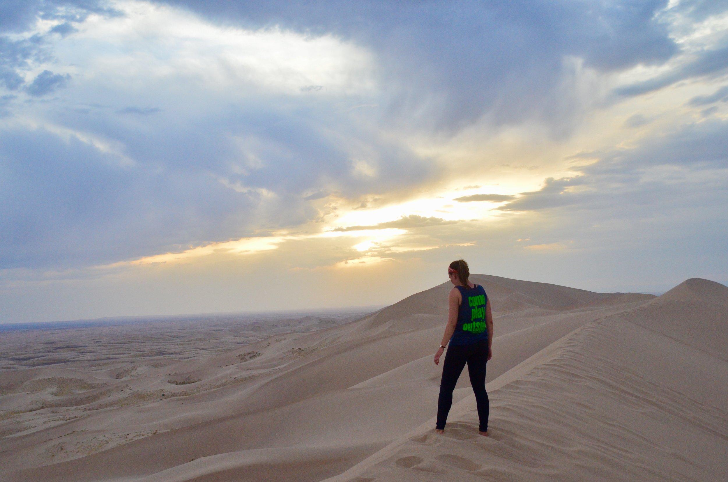 Hiking-the-Dunes-Gobi