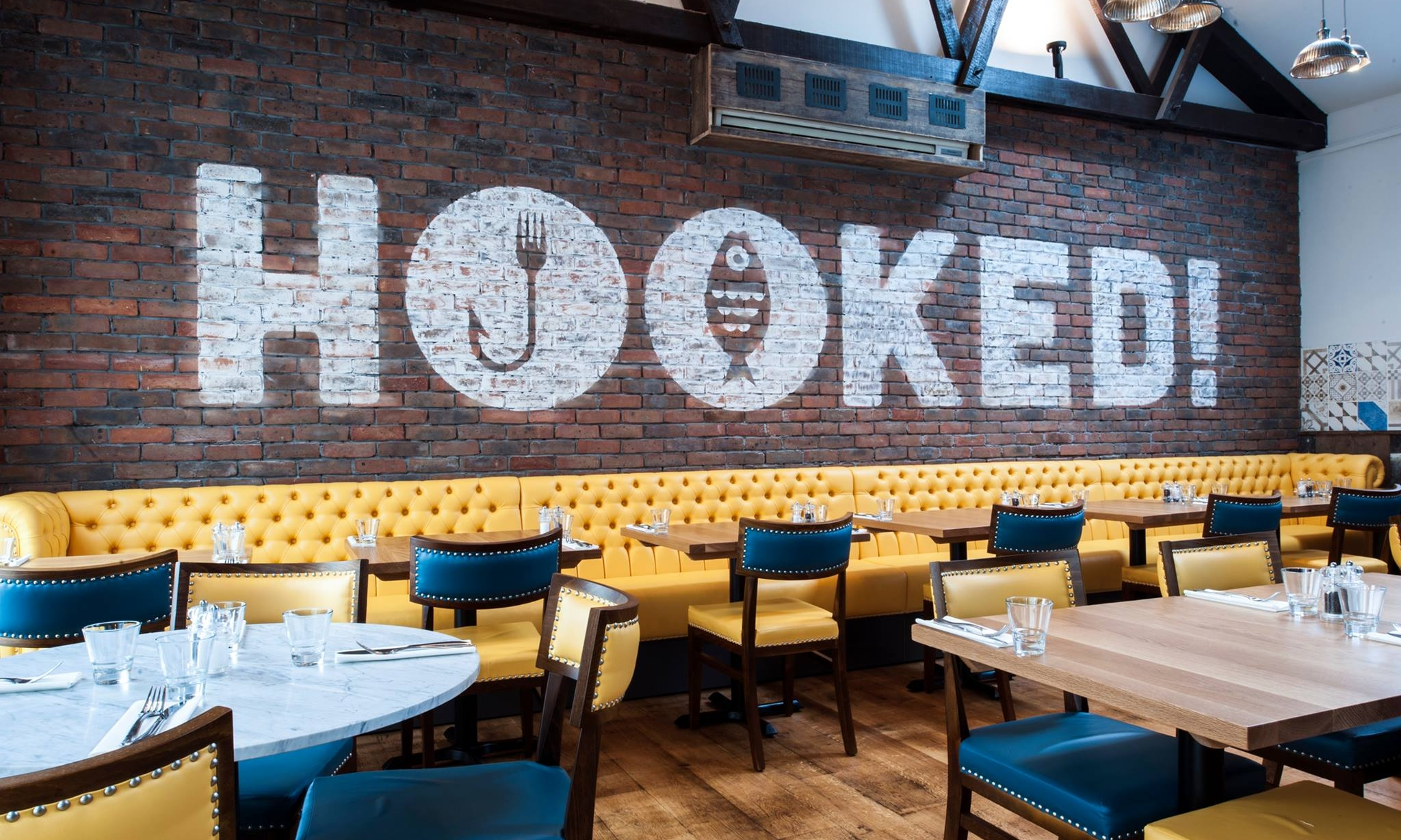 HOOKED! - This hidden gem on Tabernacle Street showcases what can be done with quality Cornish Seafood. With sustainability being at the forefront of the fishing industry Hooked! is proud to offer a fresh lunch and evening menu using locally sourced sustainable fish & seafood as well as fabulous meat and vegetarian dishes.01872 274700