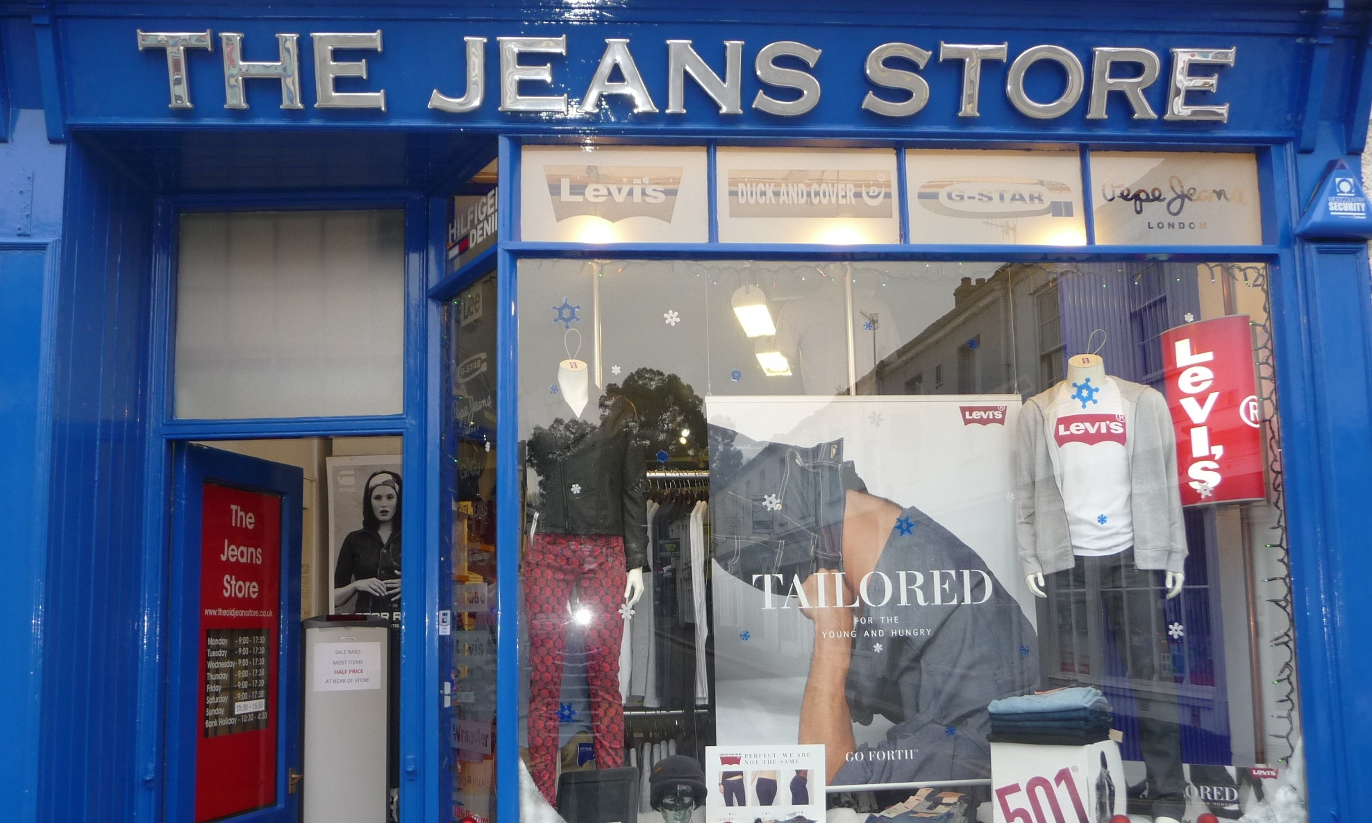 THE JEANS STORE - Est. 1995 The Jeans Store offers the largest selection of mens & womens jeans in Cornwall. Brands include: Levi's, G-Star, Pepe, Wrangler, Born Rich, Duel, Nudie, Money, Luke, Nicce, Hilfiger, Replay, Byoung, Duck & Cover, Weekend Offender and many more. So visit the store for that perfect fitting jean.01872 261961