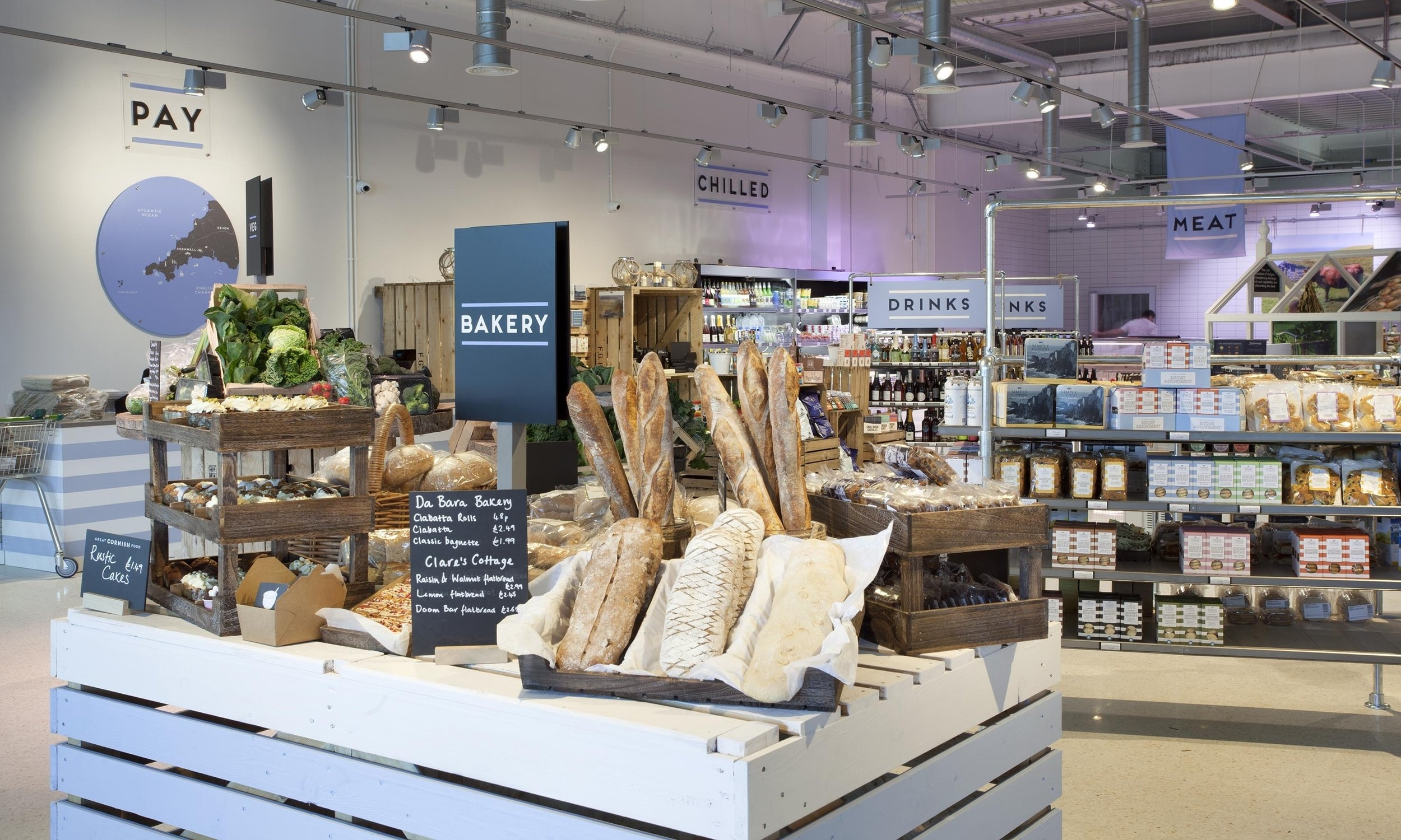 GREAT CORNISH FOOD - A retail revolution; the ultimate independent local food store with over 2000 lines, with its own butcher, fishmonger, deli and beautiful café. 5000 sq metres dedicated to Cornish produce, sitting alongside Truro's new Waitrose store. Everything you need in one convenient location with free parking
