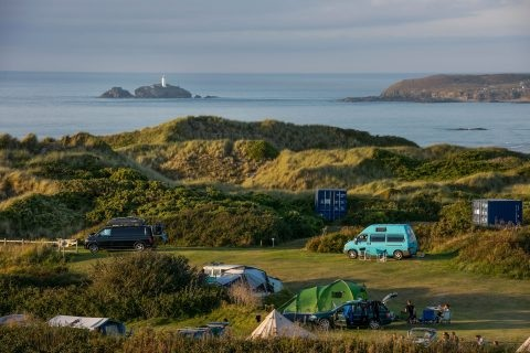 SANDY ACRES - Stay by the beach! Small & simple but cool campsite tucked in the dunes with direct access to a great surf-spot and dog friendly beach. This peaceful campsite is ideal for couples and small families. 07494 436635