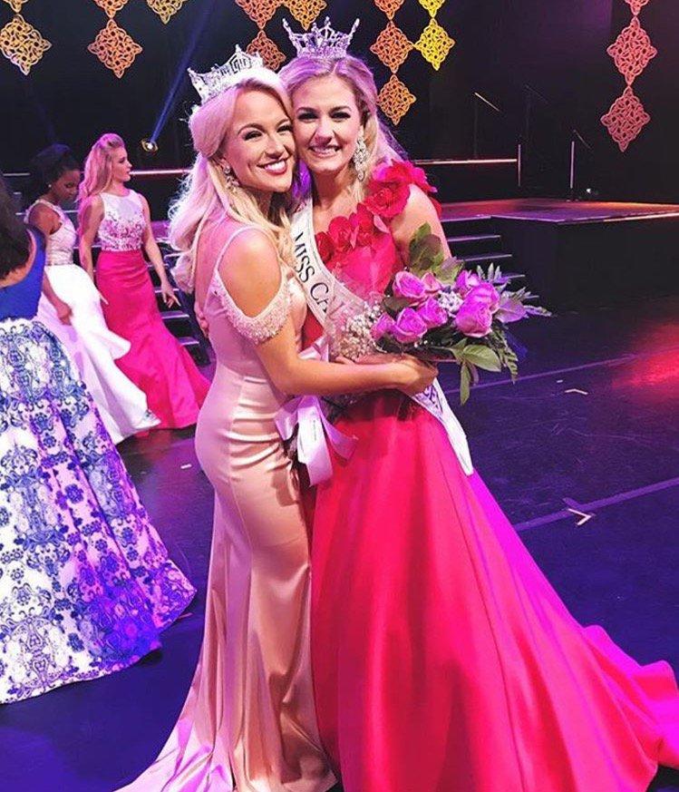 Miss America Savvy Shields with Miss California's Outstanding Teen Violet Joy Hansen
