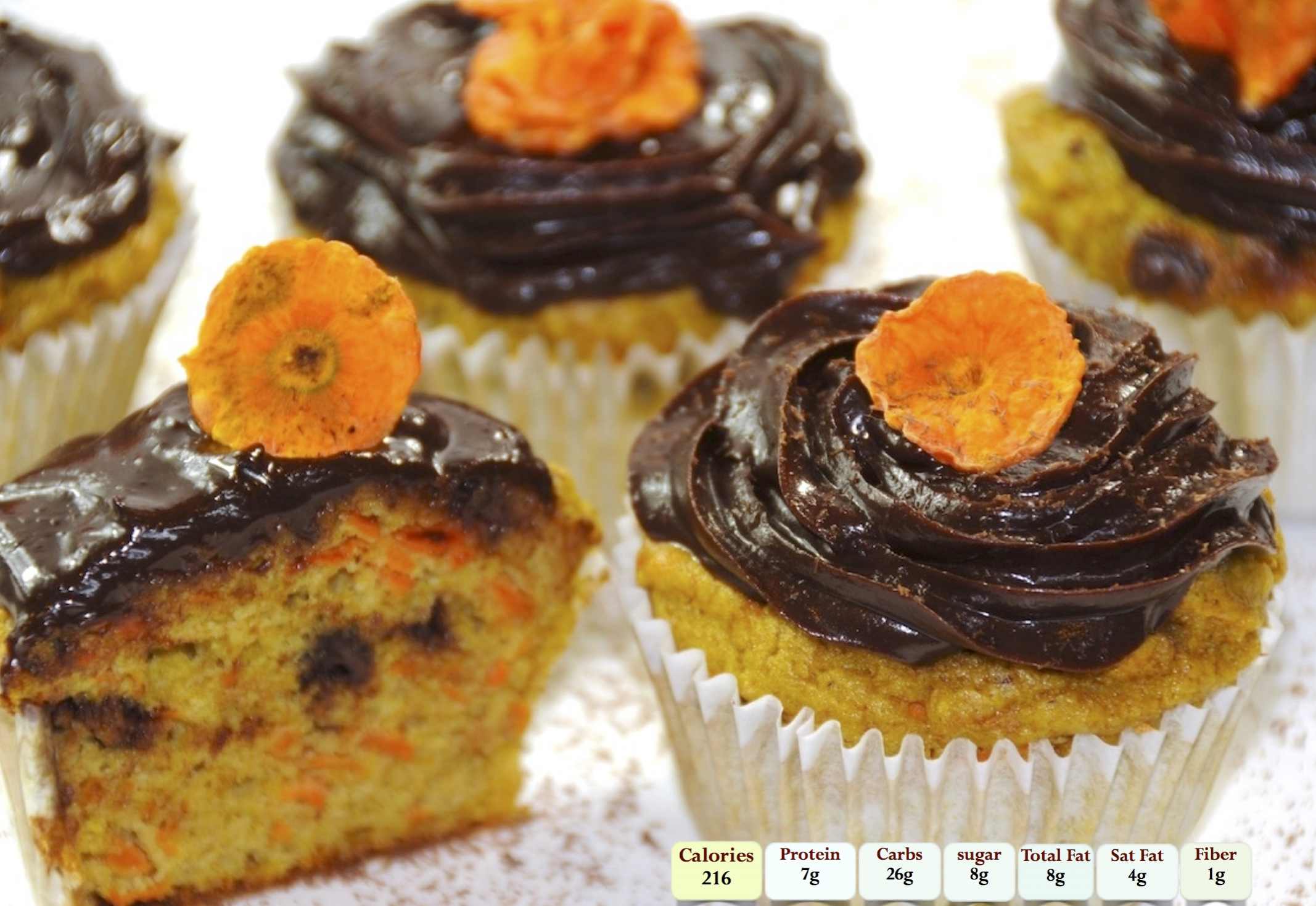 Carrot Cup Cake With Chocolate Cream Cheese Frosting.jpg