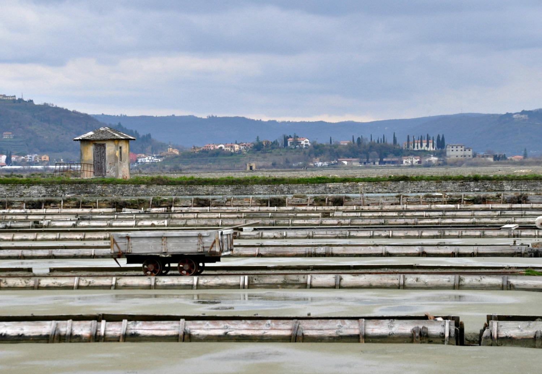 Salt pans on the Adriatic