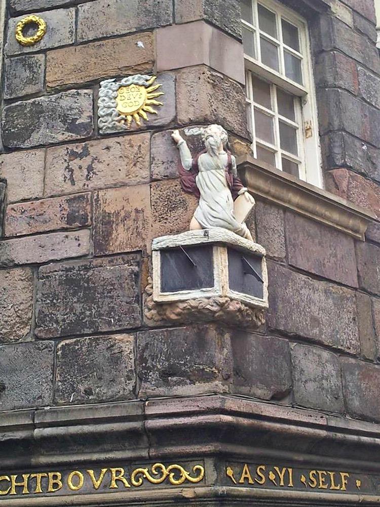 Royal Mile Renaissance Sundial. Credit: Catriona France.