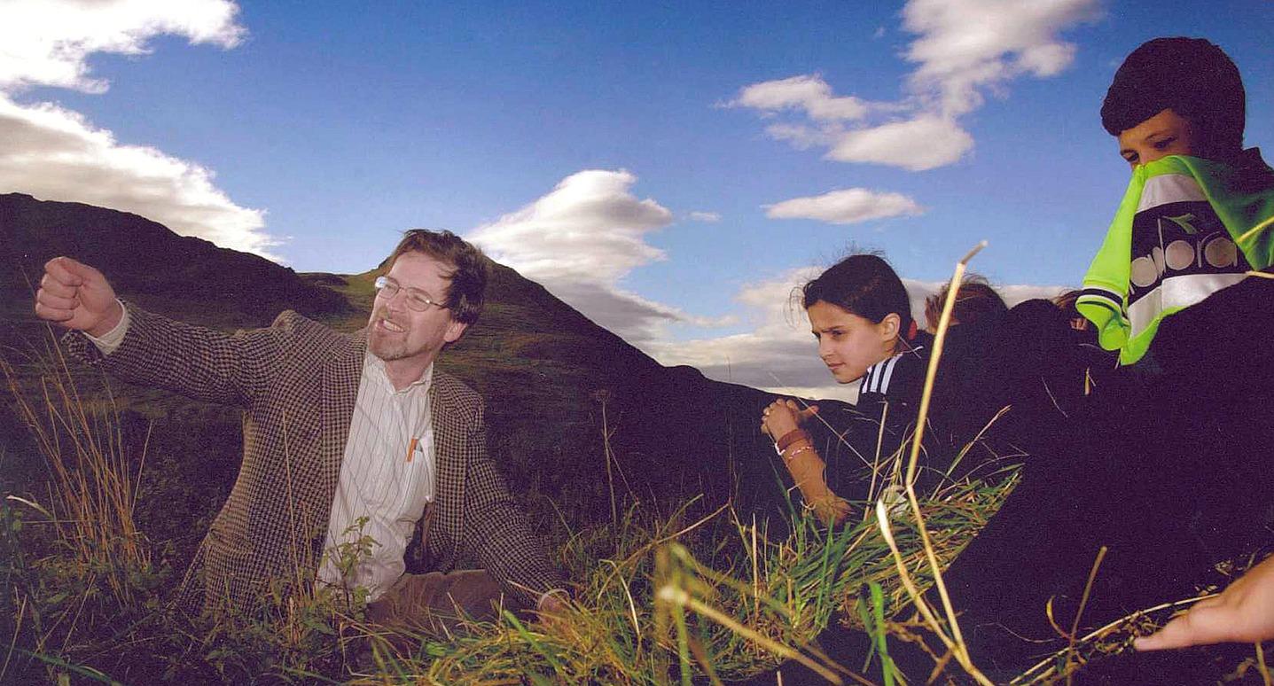 Storytelling on Edinburgh's Arthur's Seat.
