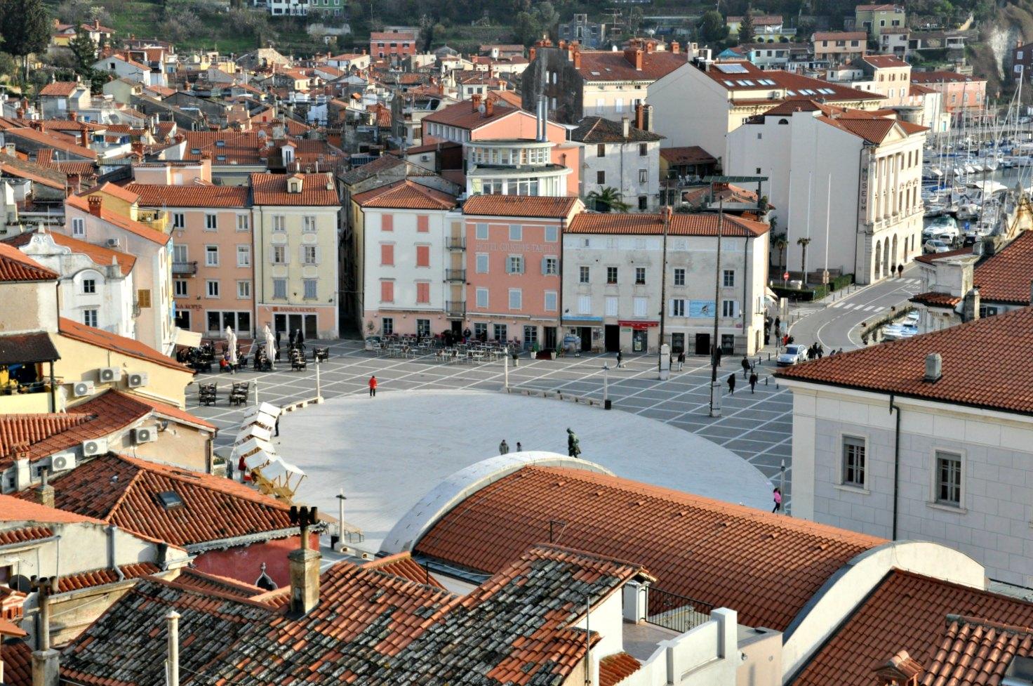 Piran town centre.