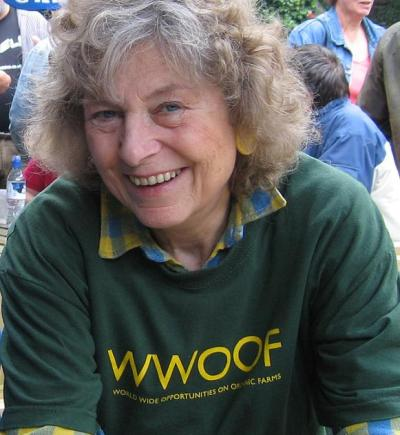 Founder of WWOOF, Sue Coppard.