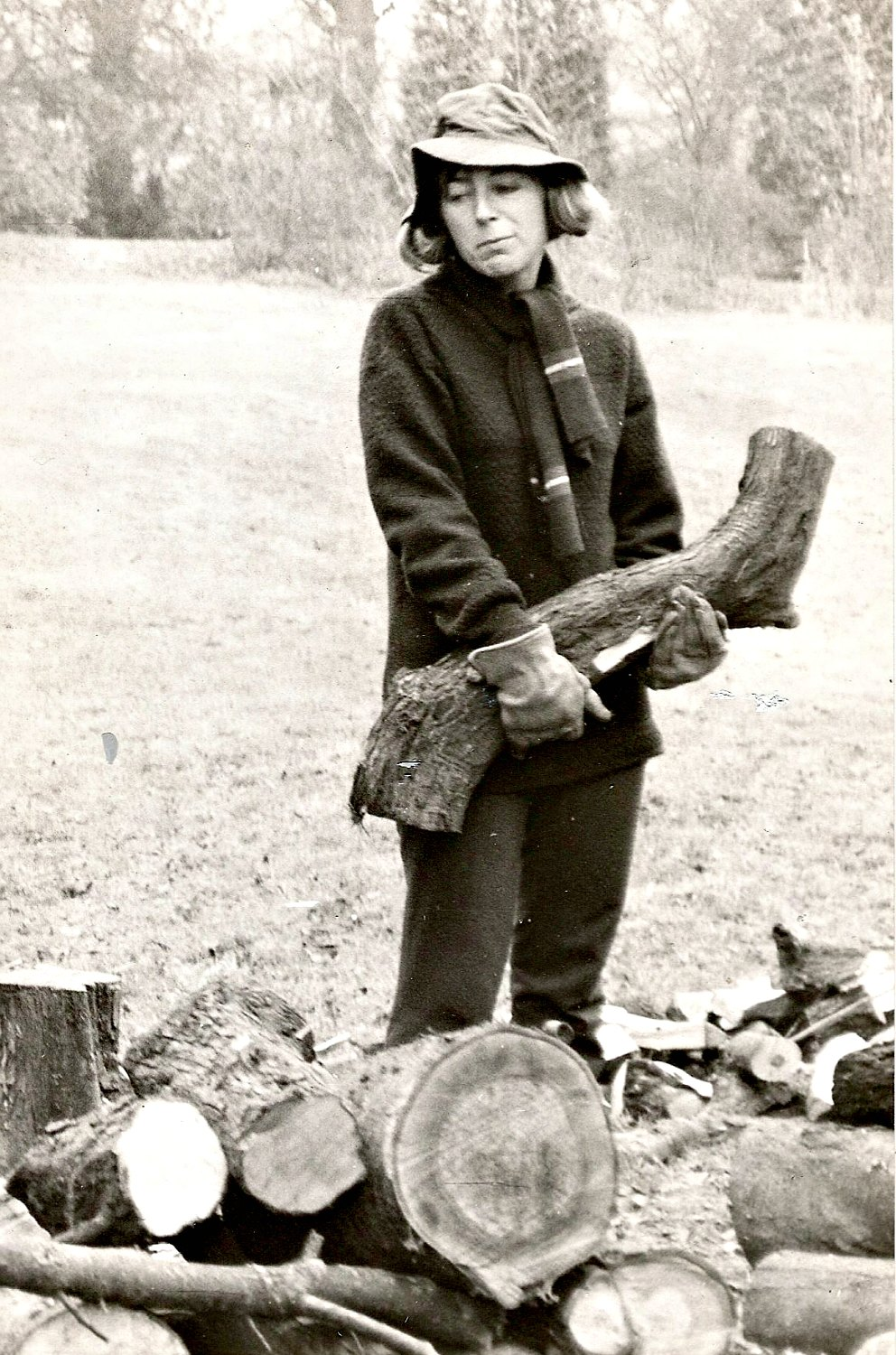 Sue on an early WWOOF weekend in the 1970s. Photo: Sue Coppard