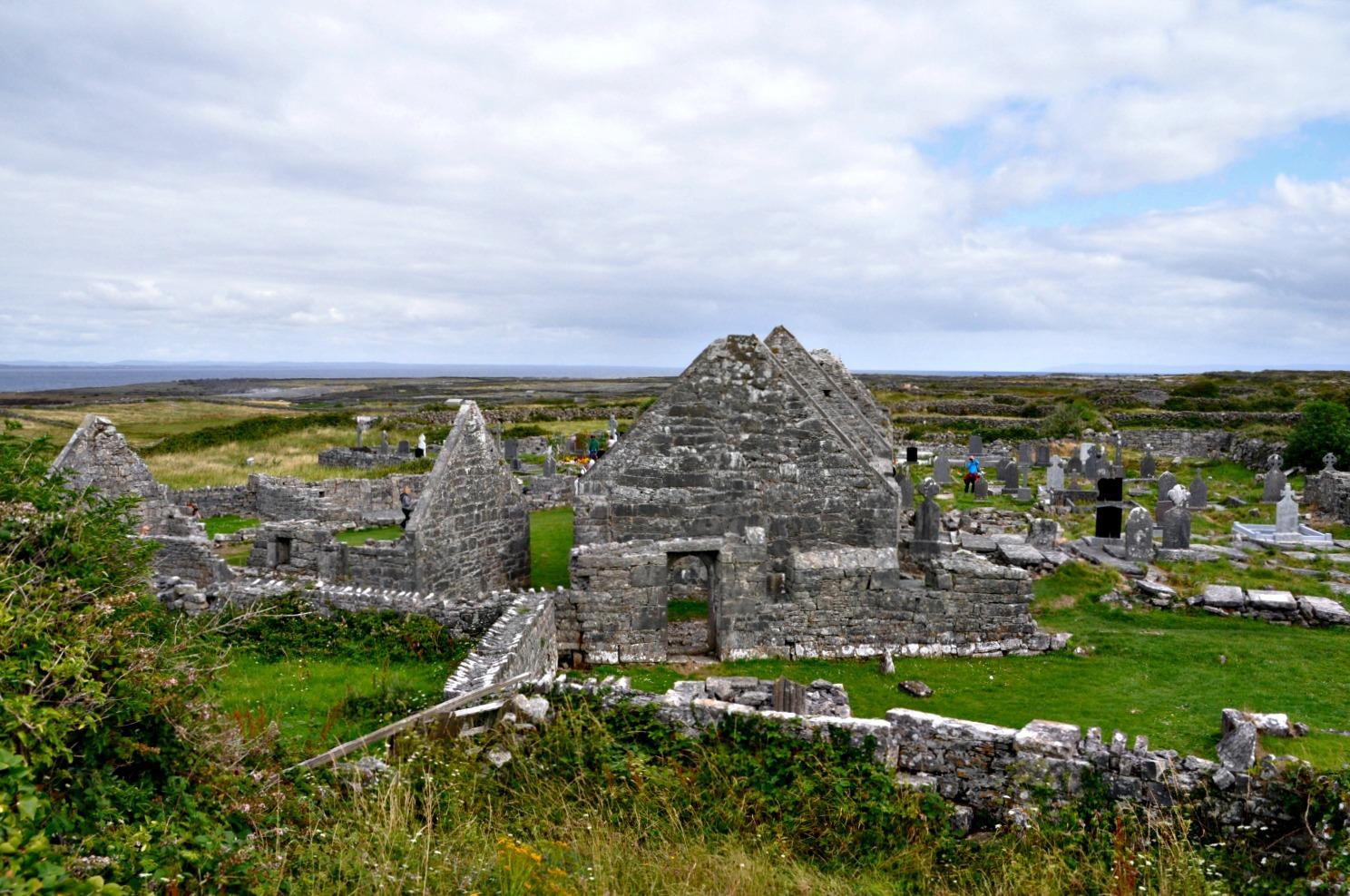 The monastery of Enda on the small island of Inis Mor. Photo: Meg Pier