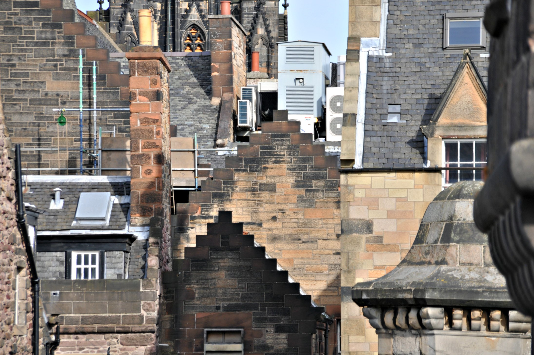Edinburgh - Old Town roof tops.
