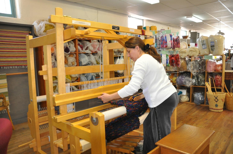 Espanola Valley Fiber Arts Center, director Diane Bowman. Photos: Meg Pier