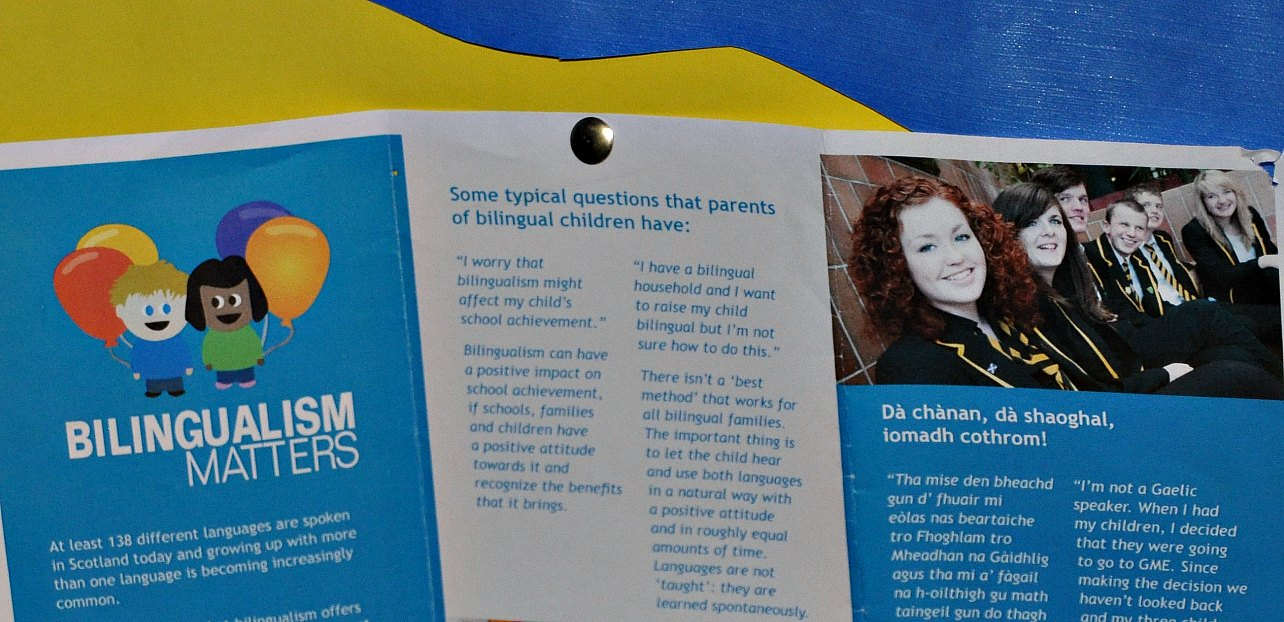 Glasgow Gaelic School promotes the benefits of bilingualism. Photo: Meg Pier