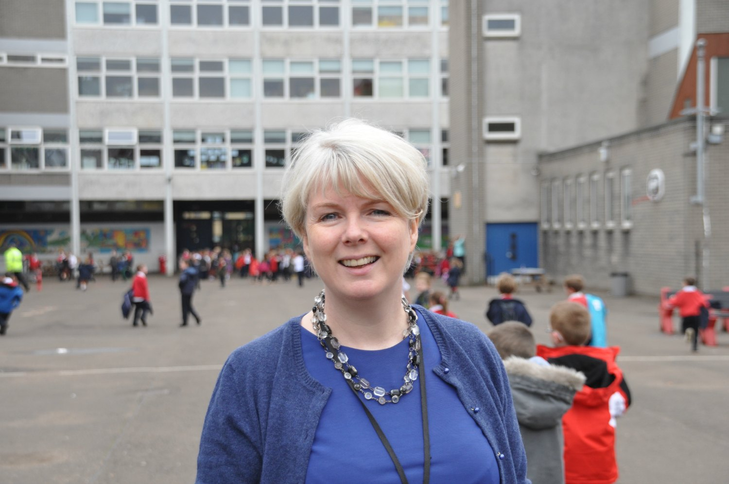 Donalda McComb, head teacher of the Glasgow Gaelic School, grew up on South Uist in the Outer Hebrides, in a Gaelic-speaking community. Photo: Meg Pier