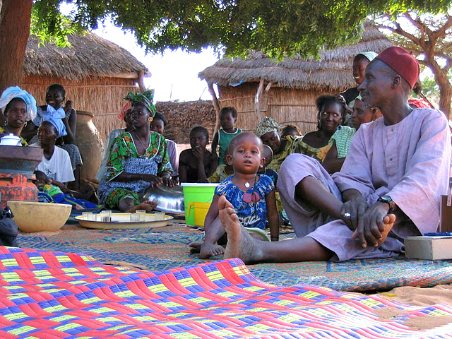 Village Assembly Welcoming Guests - Mar Lodj, Senegal - Credit:  WHL Travel.